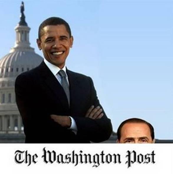 Da sinistra a destra: Obama, Brunetta e Berlusconi.